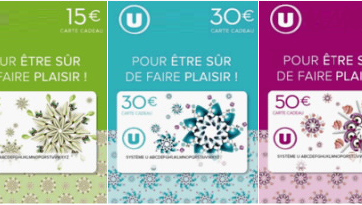 carte cadeau super u Centre commercial Sud Dracénie Hyper U les Arcs   Services pratiques